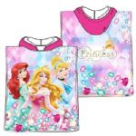 Disney Princess Mini Poncho Towel Pink